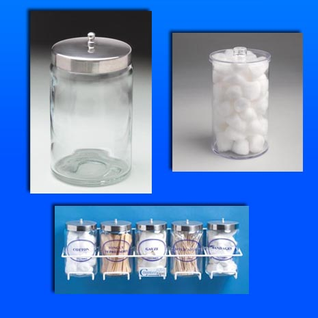 Exam Room containers, holders etc