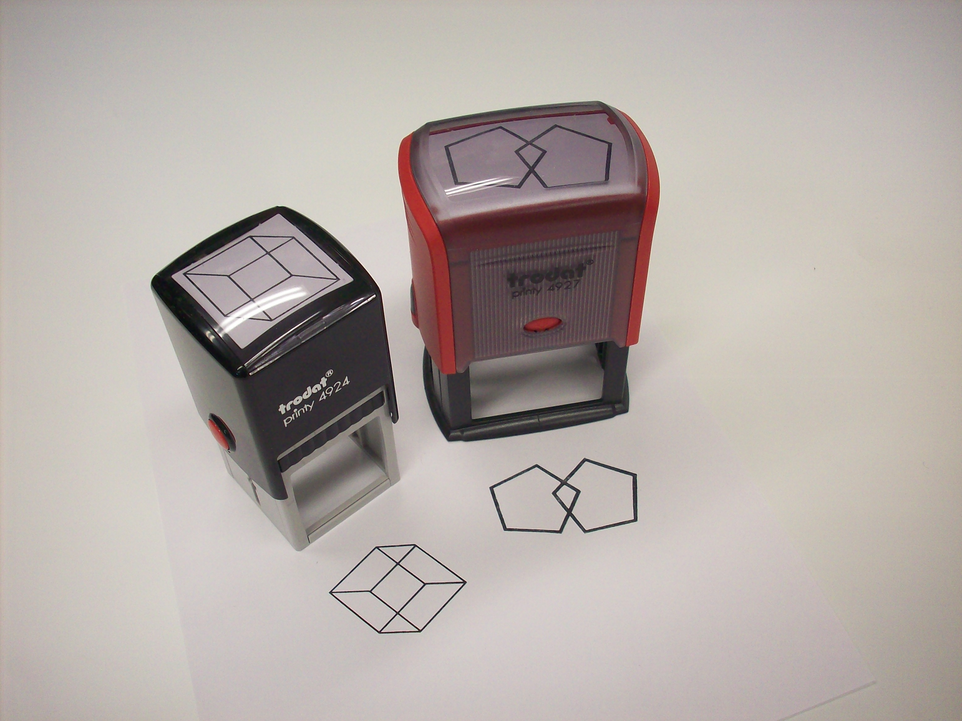 Rubber Stamp for Cognitive Testing Pentagons