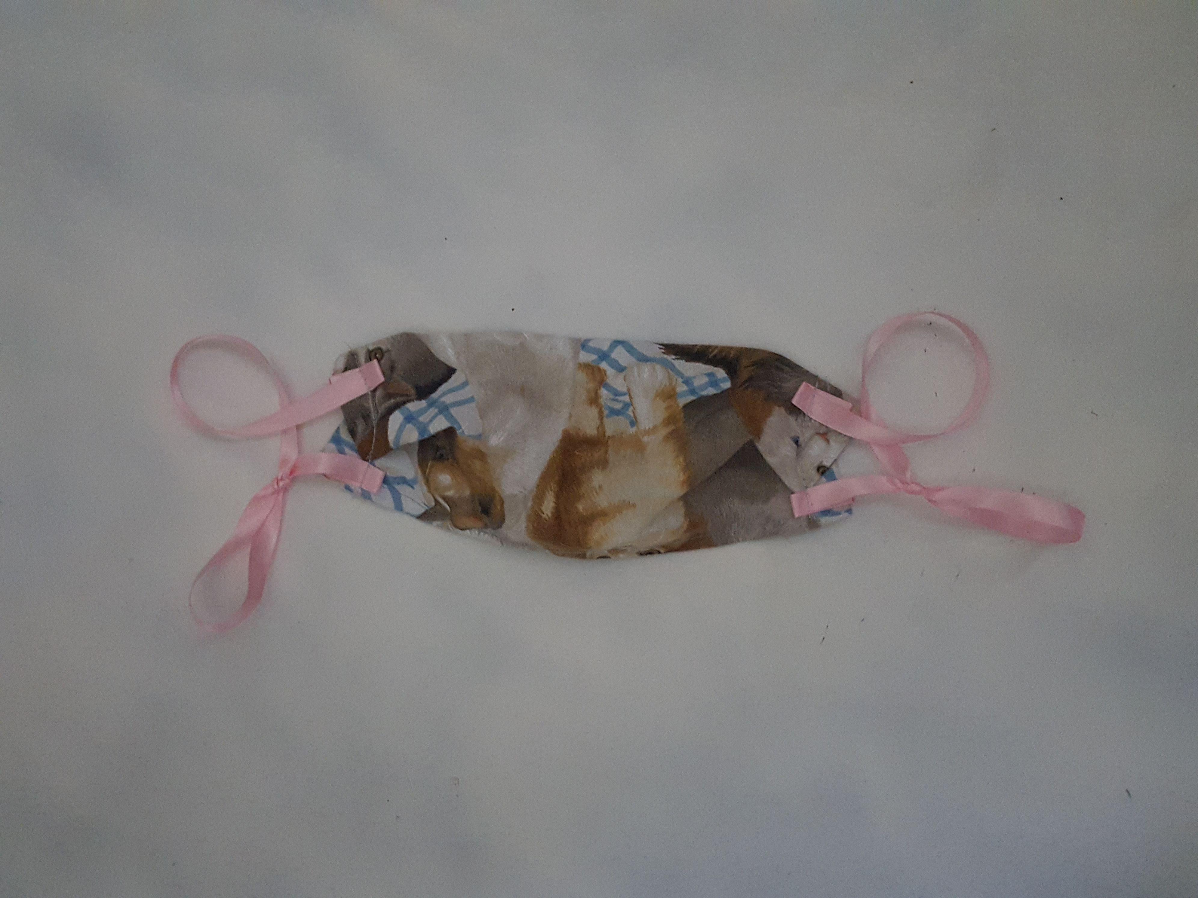 Fabric Handmade Mask Cats