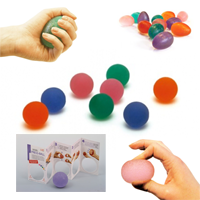 Press balls and exercise eggs